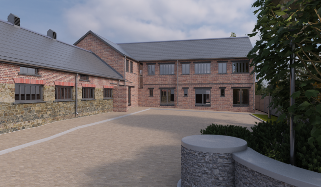 Well located Ground Floor Office suite in Refurbished Barn Complex with 1 Car Parking Space