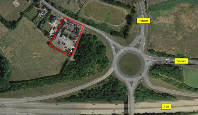 A well-located Car Sales / Storage / Development Site close to the A30 Dual Carriageway and Exeter Airport, suitable for a variety of alternative uses subject to planning