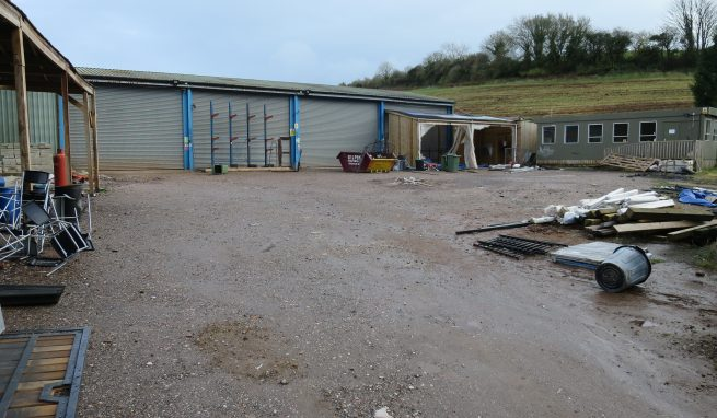 Range of basic Industrial Units plus Offices within a fenced Yard of some 0.66 of an Acre and in a prominent and convenient location just off Riviera Way