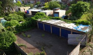 Freehold block of 6 Garages / Workshop or Potential Builders Yard on the Edge of Exeter in the popular St Thomas area of the City