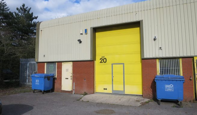 Modern Light Industrial Unit with First Floor Office and Storage plus small secure Compound Area to the side on popular Heathfield Industrial Estate