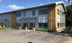Well presented First Floor Office Suite with 3 Car Parking spaces in a prominent end of terrace building at Matford on the edge of Exeter