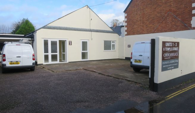 Refurbished Town Centre Office / Workshop premises with allocated Car Parking in the centre of Sidmouth